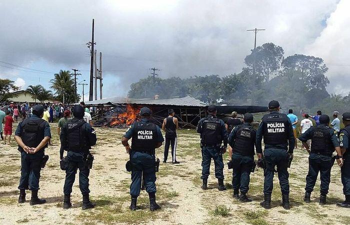 O governo de Roraima informou, em nota, ter enviado reforços da Polícia Militar para conter os ânimos.Foto: Geraldo Maia/Agência Brasil