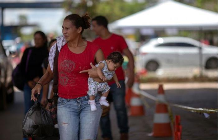 Pacaraima é a porta de entrada de venezuelanos no Brasil: possível briga política em Roraima (foto: Mauro Pimentel/AFP )