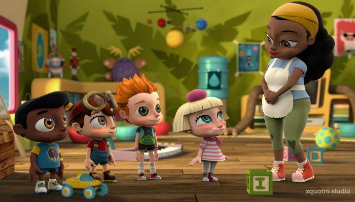 Os personagens formam uma turminha composta pela filha de uma francesa, uma garota geek, seu melhor amigo negro e uma criança hiperativa,