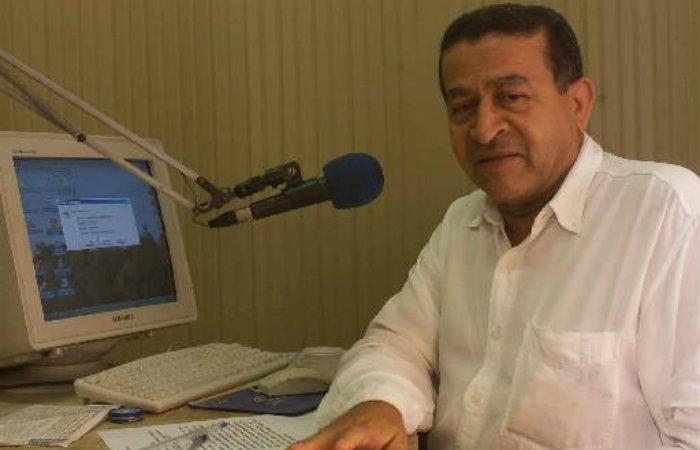 Edvaldo quando apresentava programa na Rádio Clube. Imagem: Arquivo DP