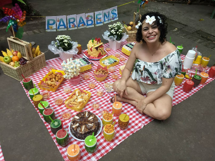 A servidora pública Flávia Antunes escolheu o Jardim Botânico para comemorar o último aniversário. Foto: Arquivo Pessoal.