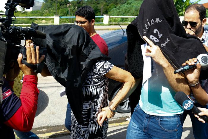 Esposa da vítima, Jussara Paes, e o filho mais velho do casal estão presos. Foto: Marlon Diego/Esp.DP