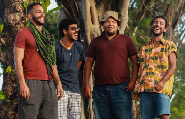 Ticiano Andrade, Ítalo Bezerra, Augusto Lino e Patrick Van Tenório formam a banda. Foto: Wallace Fontenele/Divulgação