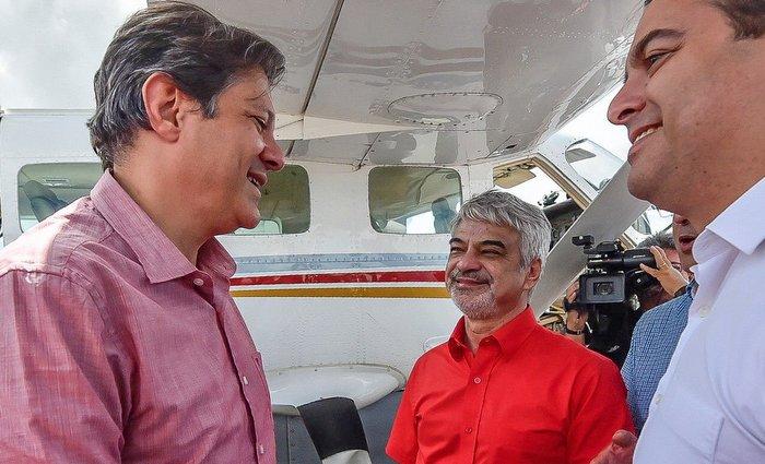 Haddad estará em Caetés, no Agreste do estado, ao lado do governador Paulo Câmara. Foto: Twitter/divulgação