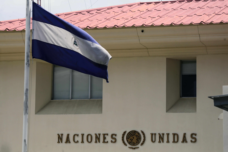Após ordem do governo de Daniel Ortega, Missão do Alto Comissariado dos Direitos Humanos da ONU abandona a Nicarágua neste sábado. Foto: INTI OCON / AFP (Foto: INTI OCON / AFP)