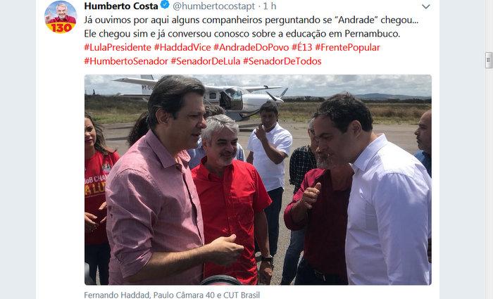 Foto: Twitter/HumbertoCosta/Divulgação