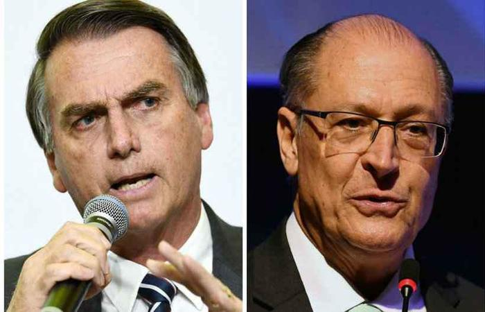 Bolsonaro e Alckimin são adversários diretos na disputa por uma vaga no segundo turno este ano. Fotos: AFP