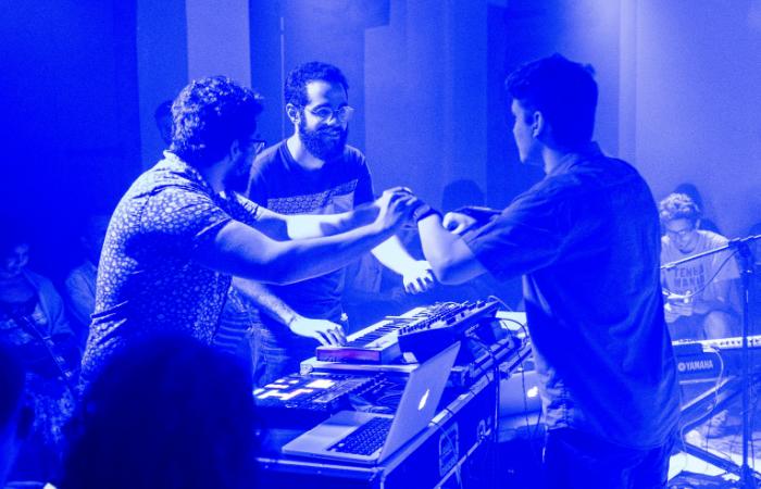 Grupo é formado por Carlos Filho, Miguel Mendes e Tomás Brandão. Foto: Felipe Schuler/Divulgação