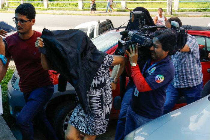 Jussara disse em depoimento que arrancou e queimou órgãos genitais do marido. Foto: Marlon Diego/Esp.DP