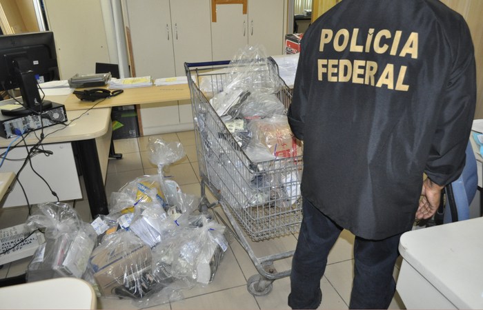Material apreendido durante operação Trevo em 2014 pela Polícia Federal. Foto: PF/Divulgação