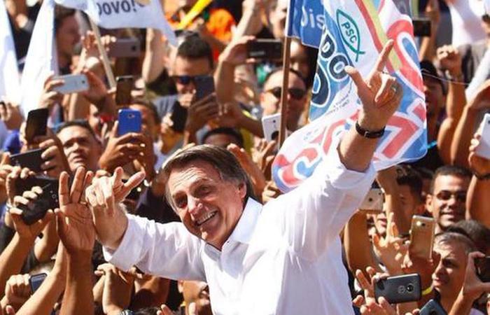 """""""Eu sou o patinho feio da história. Mas nós seremos bonitos no futuro"""", discursou o candidato do PSL. Foto: Ana Rayssa/Esp.CB/D.A Press"""