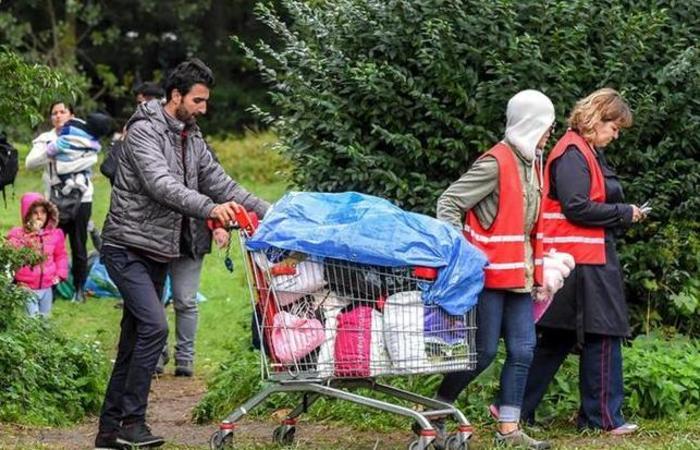 O acampamento de Grande-Synthe já havia sido evacuado várias vezes. Foto: Grande Synthe França / AFP