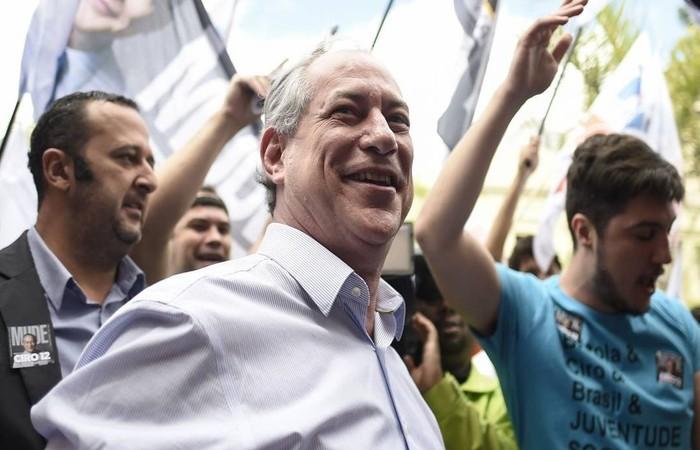 Ciro está em ascensão, segundo pesquisa IBOPE divulgada na última quarta-feira (5). Foto: Douglas Magno / AFP