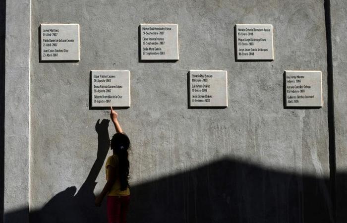 Memorial para desaparecidos em La Gallera, em um terreno onde um homem confessou em 2009 ter afundado 300 corpos em ácido, em Tijuana, em 30 de agosto de 2018 (foto: Guillermo Arias/ AFP ) (Memorial para desaparecidos em La Gallera, em um terreno onde um homem confessou em 2009 ter afundado 300 corpos em ácido, em Tijuana, em 30 de agosto de 2018 (foto: Guillermo Arias/ AFP ))