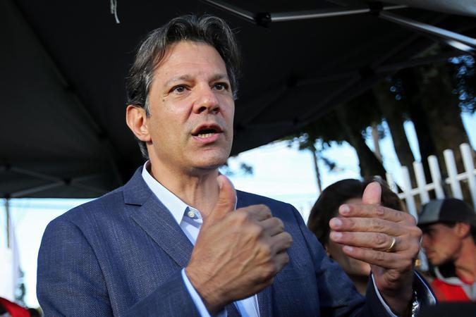 Haddad considerou que a campanha petista não tinha ataques a Bolsonaro como seu foco (foto: Heuler Andrey/AFP)