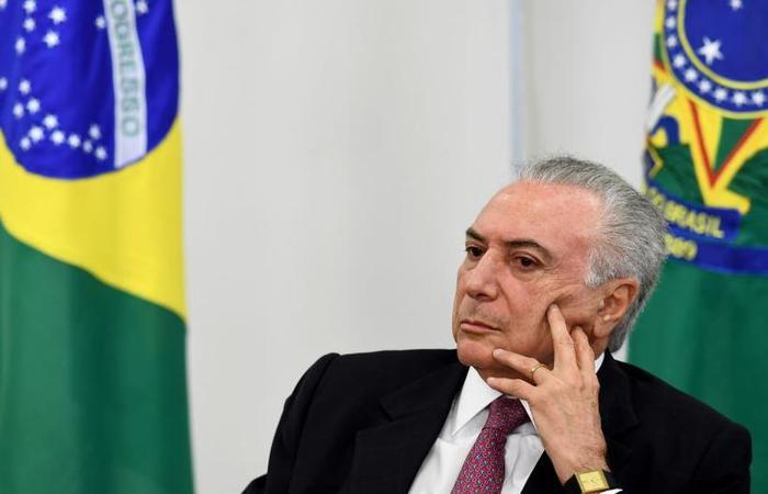 Temer teria recebido R$ 1,4 milhão da empreiteira: 'A mais absoluta perseguição', diz o emedebista (foto: Evaristo Sá/AFP)