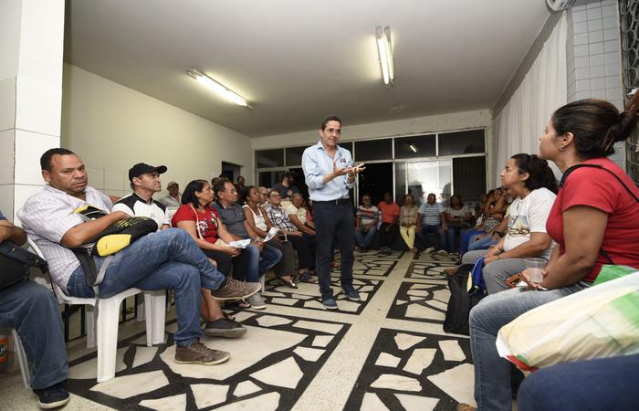 Rands explicou no encontro, na Igreja da Soledade, que vai aproveitar a tecnologia. Foto: Keila Castro/Divulgação