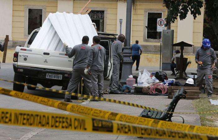 O plano emergencial tem por objetivo evitar maiores danos ao prédio e ao acervo. Foto: Tomaz Silva/ Agência Brasil