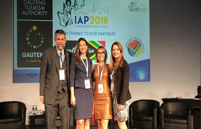 Da esquerda para a direita: José Robalinho Cavalcanti, Marisa Ferrari, Fabiana Schneider e Maria Clara Noleto. Foto: Reprodução/Twitter (Foto: Reprodução/Twitter)