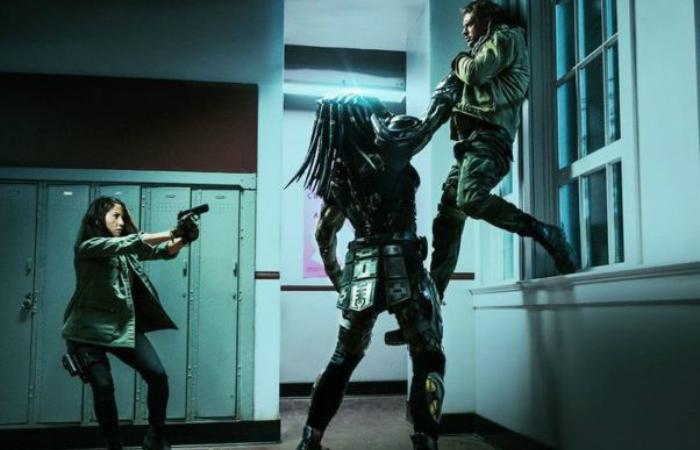 Novo O Predador aprofunda o humor que já existia no primeiro filme e abraça de vez os absurdos da franquia. Foto: Divulgação