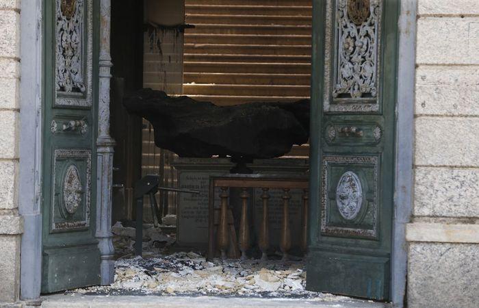 O prédio foi atingido por um incêndio que destruiu boa parte de seu acervo no dia 2 de setembro. Foto: Tomaz Silva/Agência Brasil