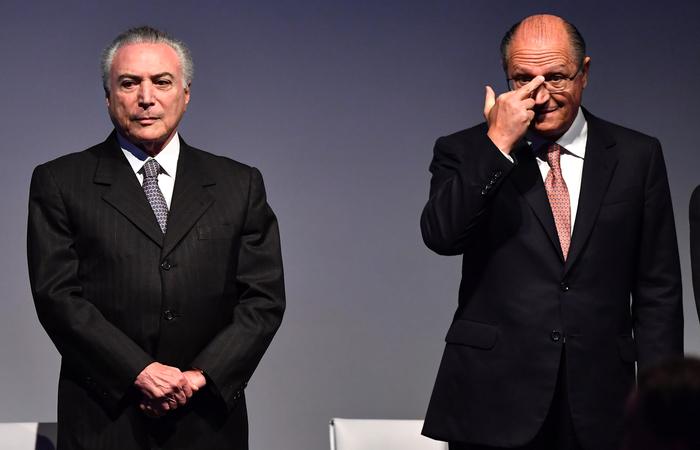 """""""PT que escolheu o Temer"""" disse o candidato do PSDB. Foto: Nelson Almeida / AFP"""