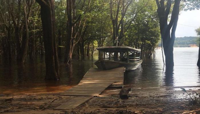 A foto do local em que Aruanas está sendo gravada foi publicada por Leandra Leal em seu perfil no Instagram. Foto: Reprodução/Instagram