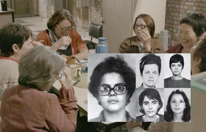 Cena de Torre das Donzelas e as mulheres retratadas no filme na época em que eram presas políticas. Foto: Divulgação