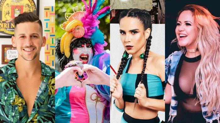 Entre as atrações, estão Caio Braz, a drag queen Vagiene Cokeluche, Wanessa Camargo e Michelle Melo. Fotos: Divulgação