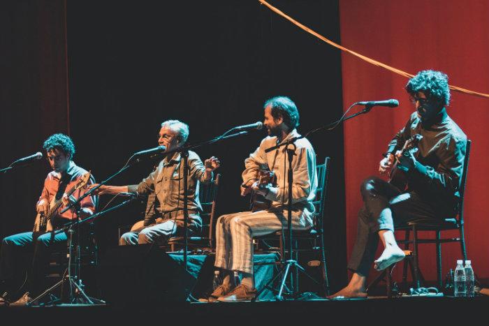 Zeca, Caetano, Moreno e Tom. Foto: Pedro Pereira/Vagalume Comunicação