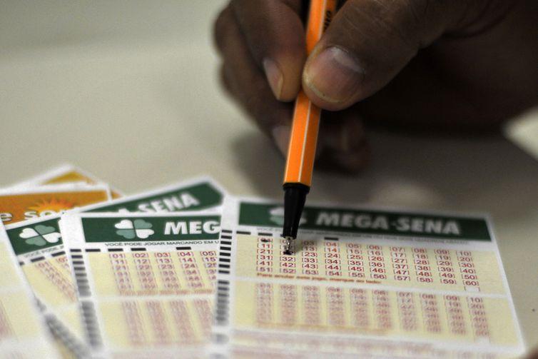 Mega-Sena especial que homenageia os apostadores. Foto: Marcello Casal Jr./Agência Brasil