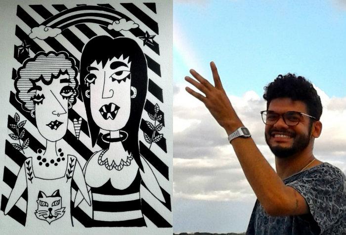 Douglas luta para fazer com que as artes visuais participem de forma ativa na militância LGBT. Fotos: Douglas Cândido/Acervo Pessoal