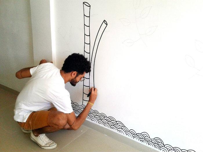 O artista já foi premiado em um salão de artes no Sesc de Casa Amarela, no Recife. Foto: Douglas Cândido/Acervo Pessoal