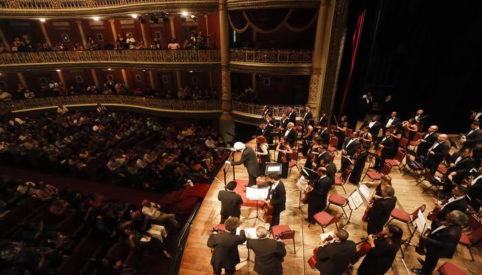 A apresentação marca o sétimo concerto da temporada 2018 da sinfônica. Foto: Andrea Rêgo Barros/PCR