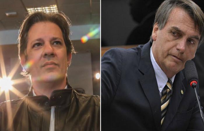 Chance de 2� turno com Bolsonaro e Haddad aumenta significativamente, diz Ibope