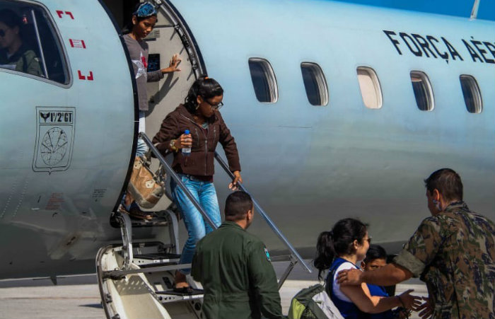 Grupo de 30 imigrantes chegaram no Recife na última segunda-feira. Eles estão em Igarassu. Imagem: Divulgação