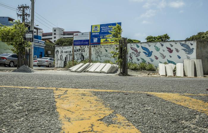 Rua do Príncipe, uma das mais movimentadas da região, é modelo para o projeto. Foto: Camila Pifano/Esp. DP
