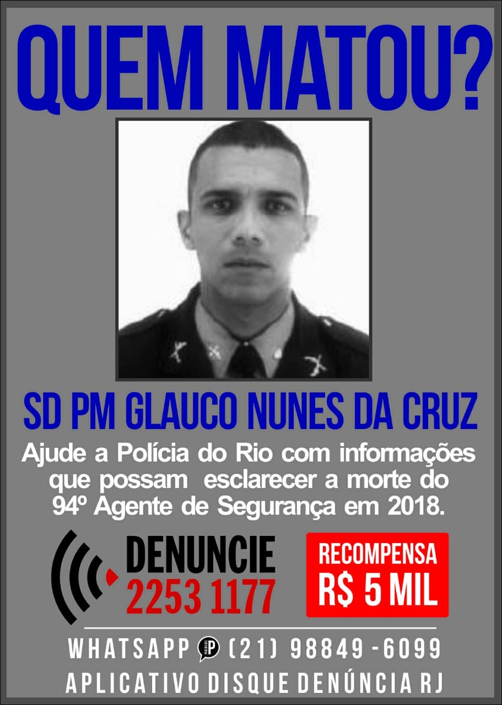 Foto: Divulgação/ Disque Denúncia