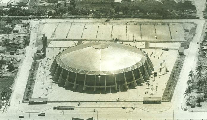 Ginásio de Esportes Geraldo Magalhães na década de 1970. Foto: Arquivo/DP/D.A Press