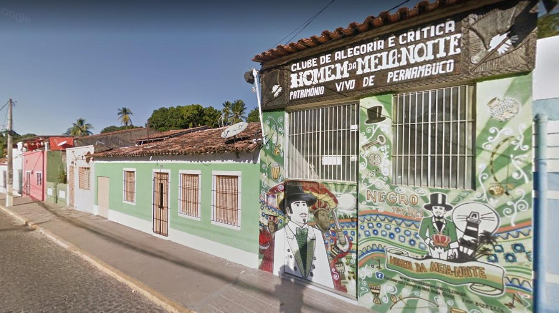 A sede do calunga do carnaval pernambucano está localizada na estrada do Bonsucesso, em Olinda. Foto: Reprodução/Google