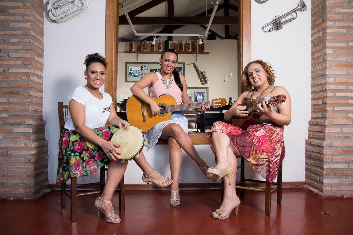 O trio é formado pelas irmãs Magally, Luciana e Renata Sampri. Foto: Guilherme Molento/Divulgação
