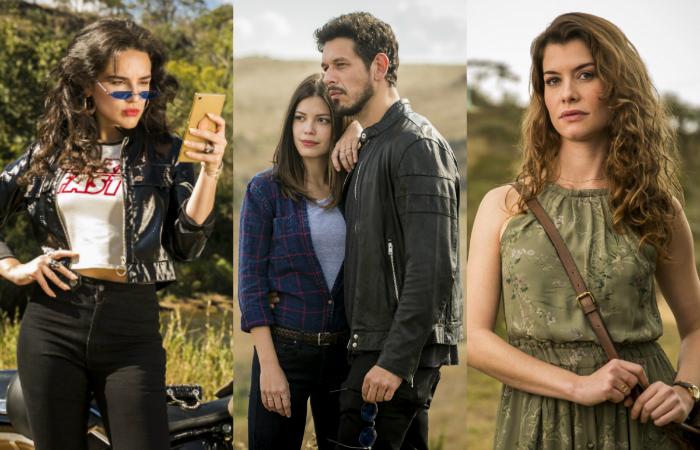 Os protagonistas são interpretados por Vitória Strada e João Vicente de Castro. Foto: Joa%u0303o Miguel Ju%u0301nior/Globo