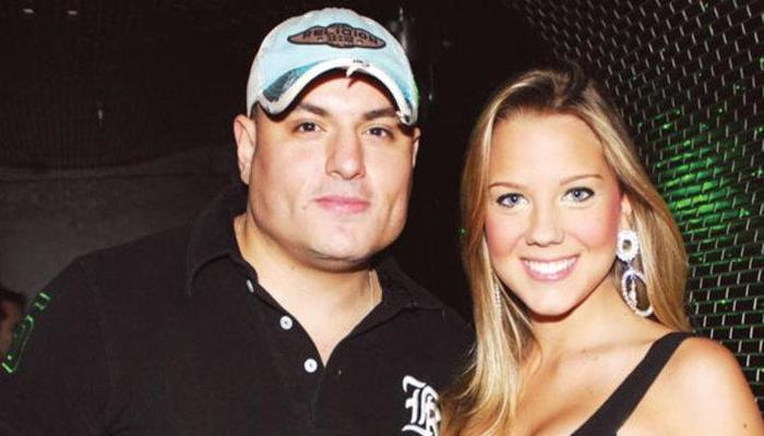 Carlinhos e a ex-assistente de palco do Gugu, Aline Hauck. Foto: Divulgação