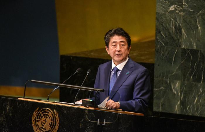 """Abe disse à Assembleia Geral da ONU que está disposto a """"um novo começo"""". Foto: STEPHANIE KEITH/AFP"""