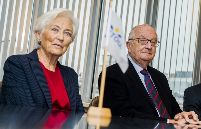 A rainha Paola e o rei Albert II, pais do atual monarca da Bélgica. Foto: BELGA/AFP/Arquivos
