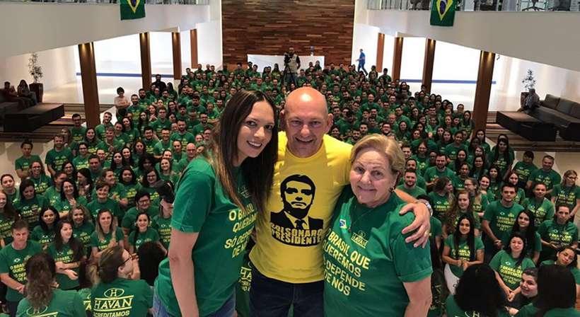 Num vídeo que circula nas redes sociais, Luciano Hang, dono das lojas Havan, ameaça deixar o país e, consequentemente, demitir seus 15 mil funcionários, caso Bolsonaro não vença a eleição. Foto: Reprodução/Twitter