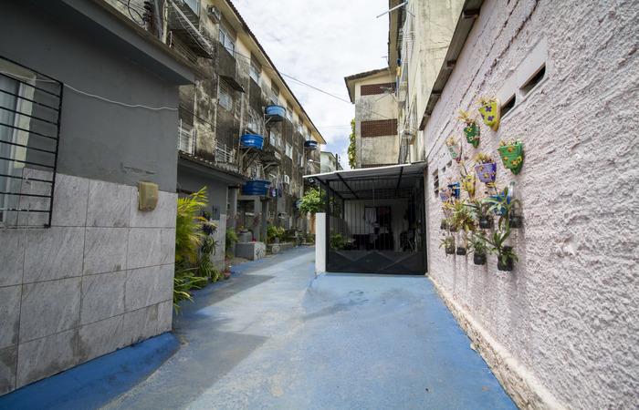 As moradias foram construídas inicialmente para os servidores do antigo Instituto de Previdência Social. Foto: Leo Malafaia/Esp. DP.