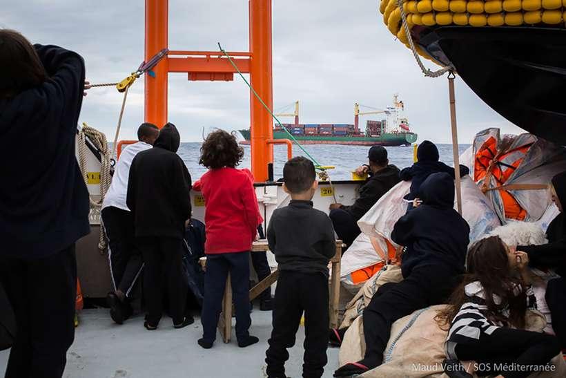 Foto: Maud VEITH / SOS MEDITERRANEE / AFP