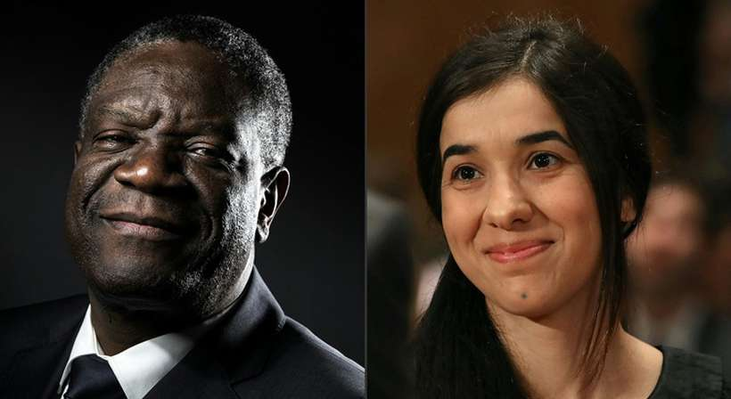 Médico e vítima, respectivamente, Denis Mukwege e Nadia Murad encarnam uma causa planetária que supera o âmbito dos conflitos, como evidencia o movimento #MeToo. Foto: Joel saget, Mark Wilson / AFP