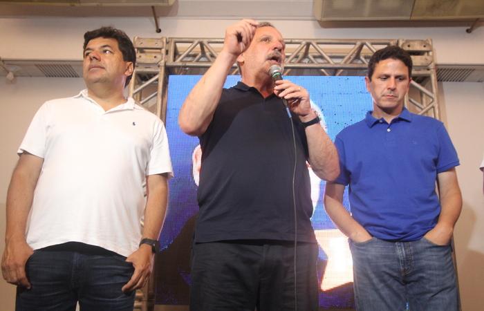 Mendonça e Bruno vão defender nome de Bolsonaro. Armando não se posicionou. Foto: Nando Chiappetta/DP